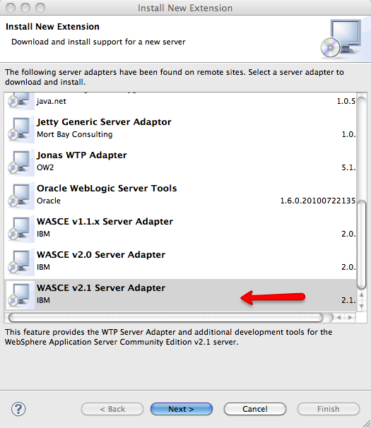 WASCE v2.1 Server Adapter