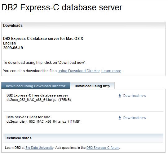 Instalación de DB2 Express 9 5 2 en Mac OS X 10 6 | Solo Bits